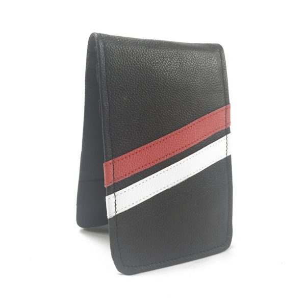 Black with Red and White Stripes