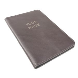 Passport cover engraved